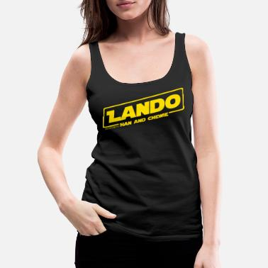 Han Solo LANDO Featuring Han and Chewie - Women's Premium Tank Top