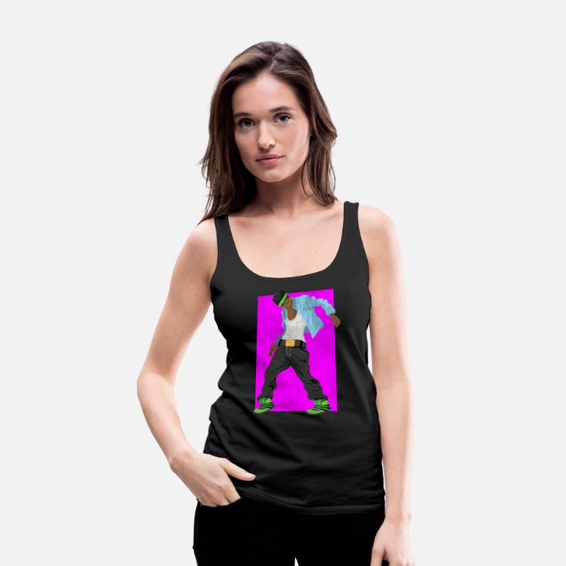 Hop Tank Tops - Breakdance Hip Hop Music Oldschool Gift - Women's Premium Tank Top black