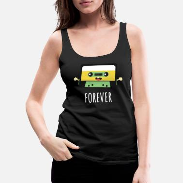 Record Together Forever Cassette Pen Valentines Day Gift - Women's Premium Tank Top
