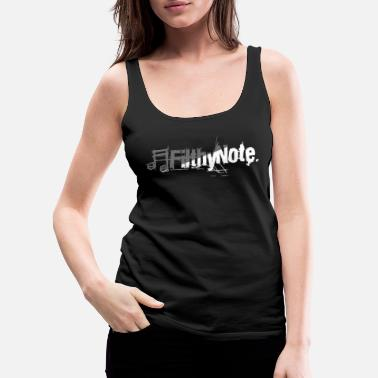 Note Clue filthy note - Women's Premium Tank Top
