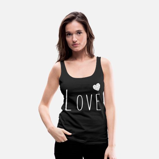 Love Tank Tops - Puzzle Puzzles Tricky Love Relationship Gift - Women's Premium Tank Top black