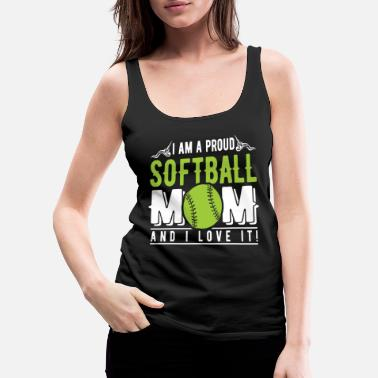Softball Softball Mom - Women's Premium Tank Top