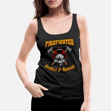 Axe Firefighter Protect and Rescue - Women's Premium Tank Top