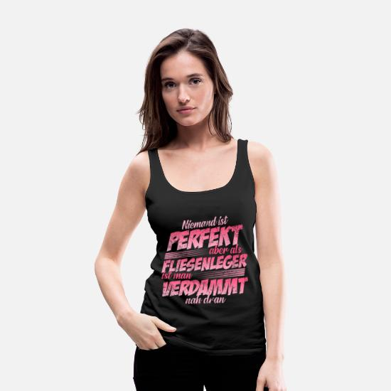 Occupation Tank Tops - Tiler Site manager - Women's Premium Tank Top black