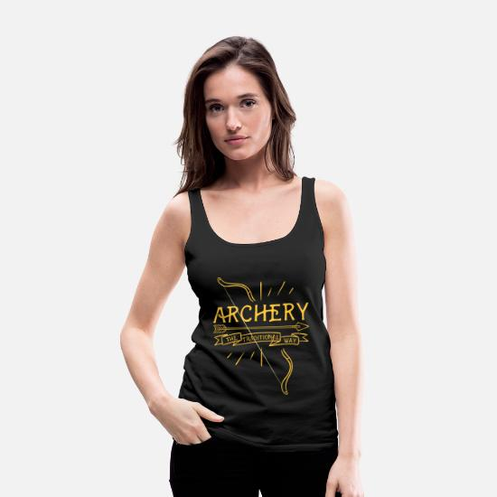 Scout Tank Tops - The Traditional Archery Bow and Arrows Hunting - Women's Premium Tank Top black