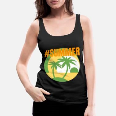 Beach Summer Island Hashtag Beach Ocean Gift Idea - Women's Premium Tank Top