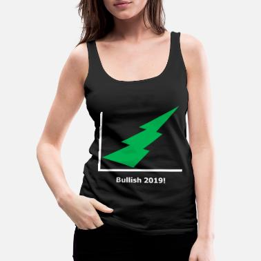 Lightning Bolt Stock Market - Bullish 2019 - green - black - Women's Premium Tank Top