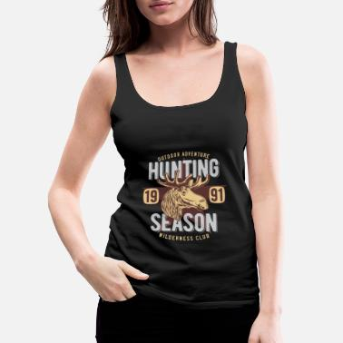 Classic Hunting Sesaon 1991 - Wilderness Club - Women's Premium Tank Top
