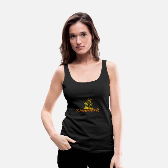 Country Tank Tops - Denmark Europe EU Euro Country - Women's Premium Tank Top black