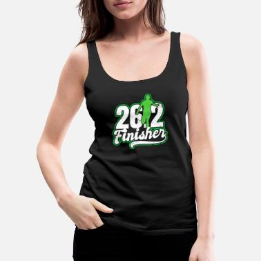 Funny Cross Fit 26.2 Running Marathon Finischer Gift - Women's Premium Tank Top