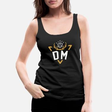 Dice Polyhedral D20 Dice DM Badge Tabletop RPG - Women's Premium Tank Top