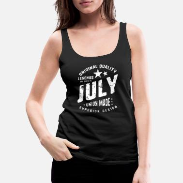 Anniversary July legends are born vintage t shirt typography - Women's Premium Tank Top