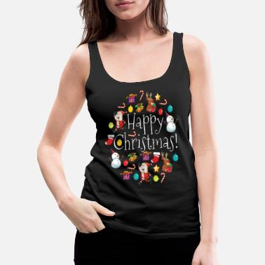 Funny Christmas Funny Ugly Christmas Sweater - Women's Premium Tank Top