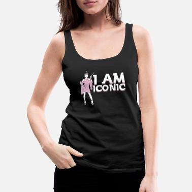 Hollywood Powerful trendy classy Woman I am Iconic fashion - Women's Premium Tank Top