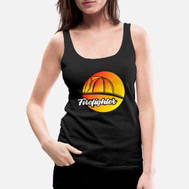 Worker Firefighter Fire Firedepartment Work Profession - Women's Premium Tank Top