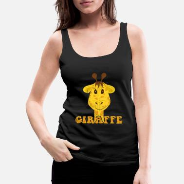 Yellow Giraffe Kids Illustration Drawing Birthday gift - Women's Premium Tank Top