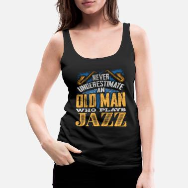 Guitarist Old man Jazz - Women's Premium Tank Top