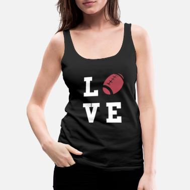 American Football Rugby Love - Women's Premium Tank Top