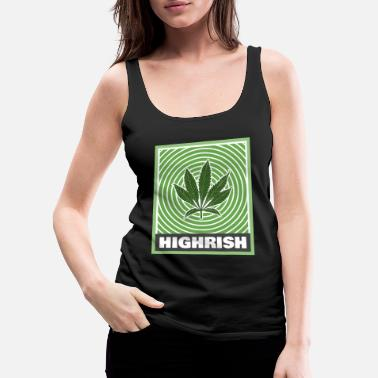Trippy Weed Highrish Trippy St Patricks Day for Stoners - Women's Premium Tank Top