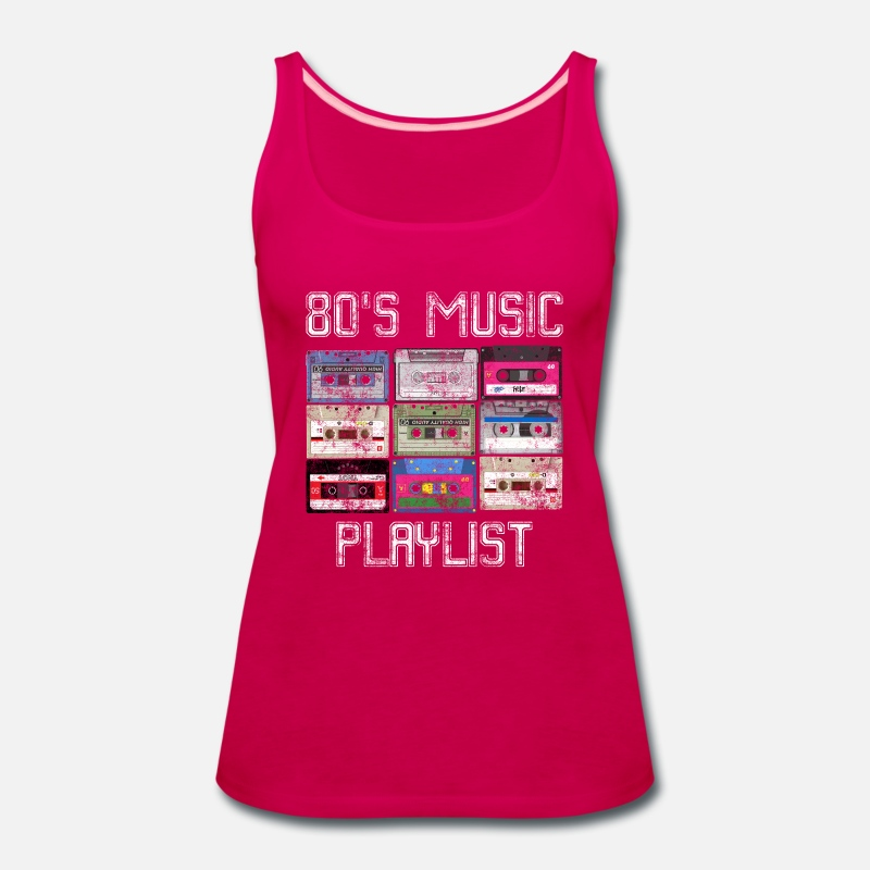 Cassette 80's Music Playlist Grunge Women's Premium Tank Top - dark pink