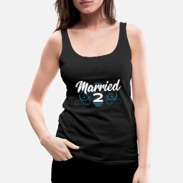 Anniversary Just Married 2 Years Ago - 2nd Year Wedding Annive - Women's Premium Tank Top