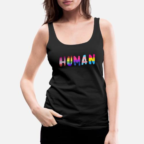 1679eb6b6b88aa Human pride flag shirt rainbow shirt for women - Women s Premium Tank Top.  Front