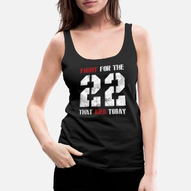 22 Fight For The 22 - Women's Premium Tank Top