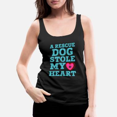 Animal Rescue A Rescue Dog Stole My Heart - Women's Premium Tank Top
