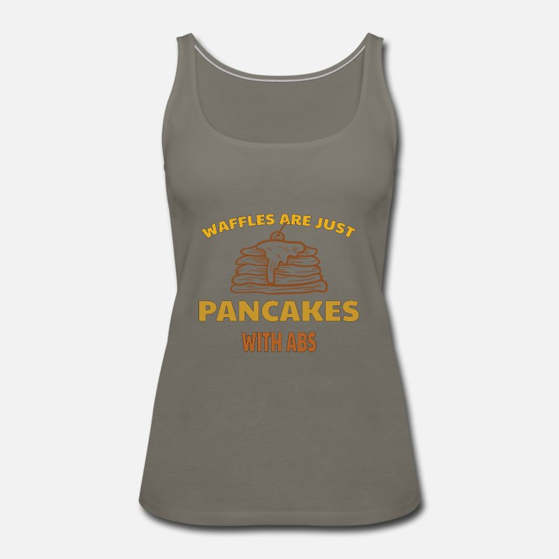 Mad Over Shirts Frying Pans Who Knew Unisex Premium Tank Top