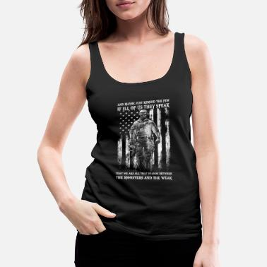 Military Military - Stands between monster and weak - Women's Premium Tank Top