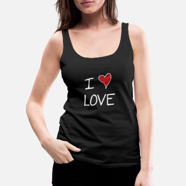 I Love I Love - Women's Premium Tank Top