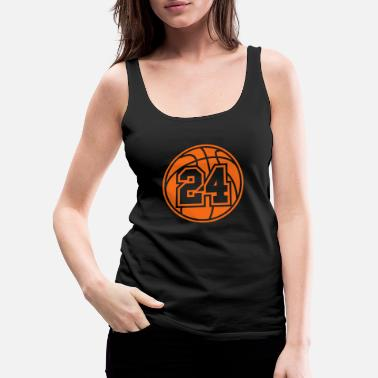 24 Basketball Vector 1_color TAS - Women's Premium Tank Top
