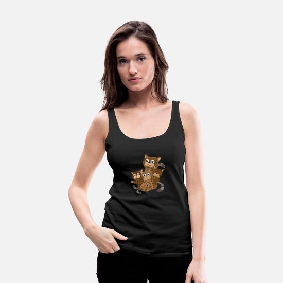85d34fbe Cat - Bengal Family Bengal Cats Cute - Gift Idea Women's Premium ...