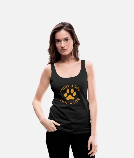 Rescue Tank Tops - Dog - adopt a dog (save a life , rescue dog) - Women's Premium Tank Top black