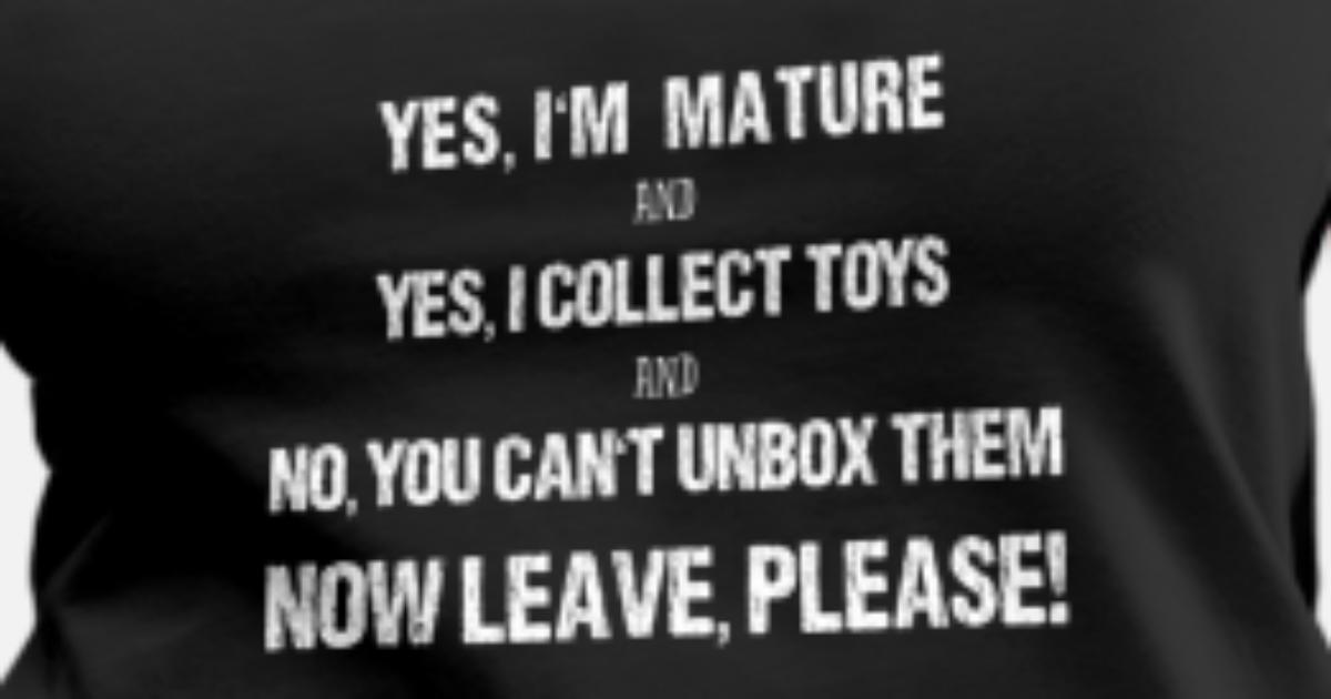 Funny Toy Collector Mature Collecting Unboxing Women's Premium Tank Top    Spreadshirt