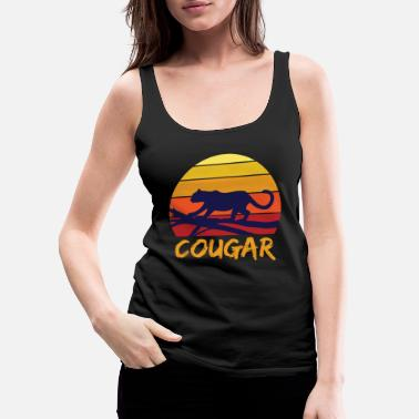 Reminder Cougar tooth black jungle - Women's Premium Tank Top
