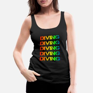 Seafood Diving - Women's Premium Tank Top