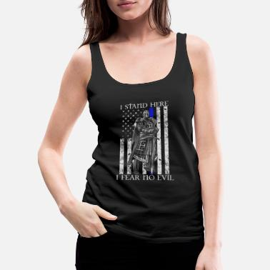 Chivalry Crusader - I stand here fearing no evil flag tee - Women's Premium Tank Top