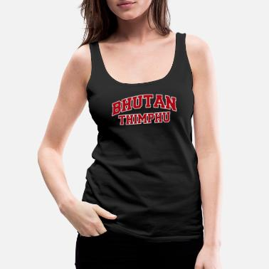 Dialect Thimphu Bhutan City Souvenir - Women's Premium Tank Top