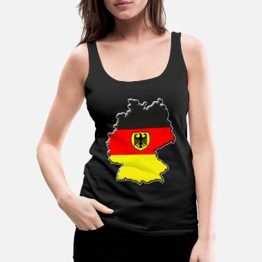 Frankfurt Germany Flag Map - Women's Premium Tank Top