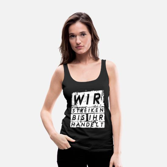 Tree Tank Tops - We strike up their acts - Women's Premium Tank Top black
