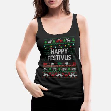 Ugly-christmas-sweater Funny Ugly Christmas Sweater - Women's Premium Tank Top
