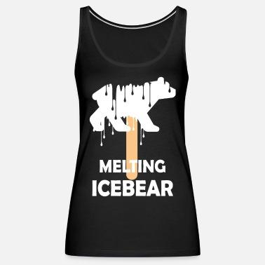 Melting ice bear Women's Polo Shirt | Spreadshirt