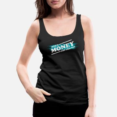 Wealth Money Monets Gift Penunze Taler Dough Charcoal - Women's Premium Tank Top
