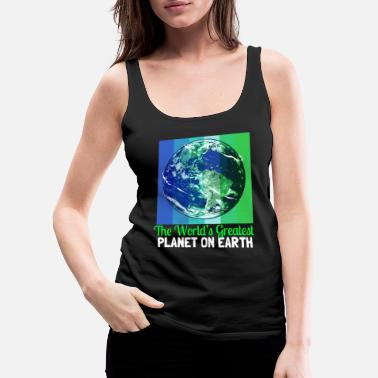 Flora Earth Day Climate Change Recycling Ecology Planet - Women's Premium Tank Top