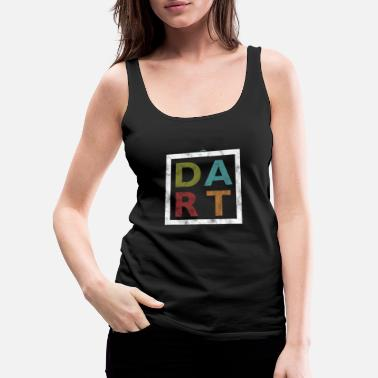 Bar Pub Distressed Dart Typography Bar Pub Tournament - Women's Premium Tank Top