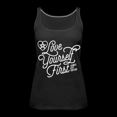 Jared Padalecki fan - Love yourself first - Women's Premium Tank Top