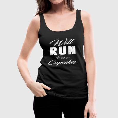 Will Run For Cupcakes T-Shirt - Women's Premium Tank Top