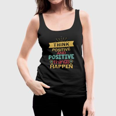 Think Positive - Vintage - Women's Premium Tank Top