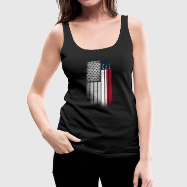 USA Vintage North Carolina State Flag - Women's Premium Tank Top